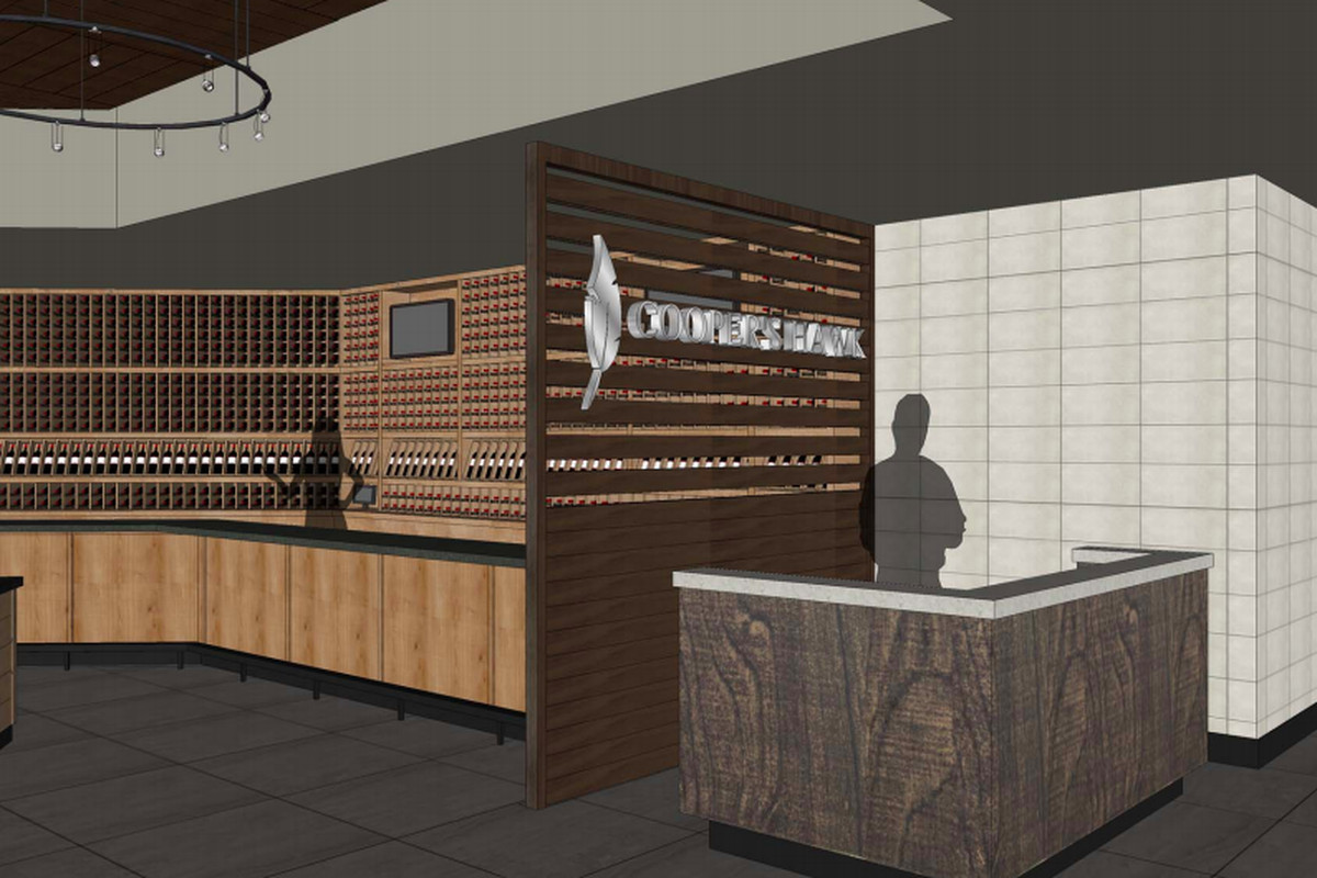 A Rendering For The Entrance To Cooper S Hawk Winery Restaurant At Mall Partridge Creek Official Image