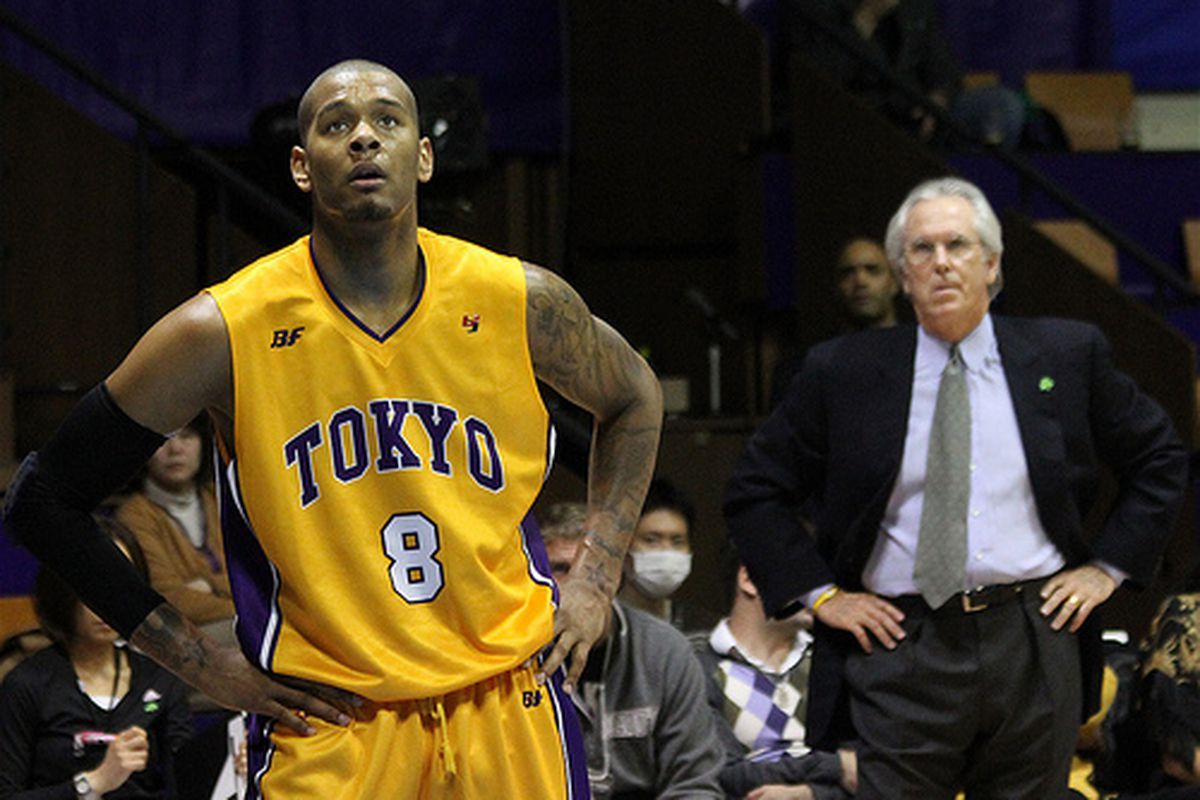 """Jeremy Tyler played in Tokyo, Japan, this past season under former NBA head coach Bob Hill's watchful eye. <em>(<a href=""""http://www.flickr.com/photos/globalite/5601807659/"""" target=""""new"""">Photo courtesy of Globalite on Flickr</a>)</em>"""