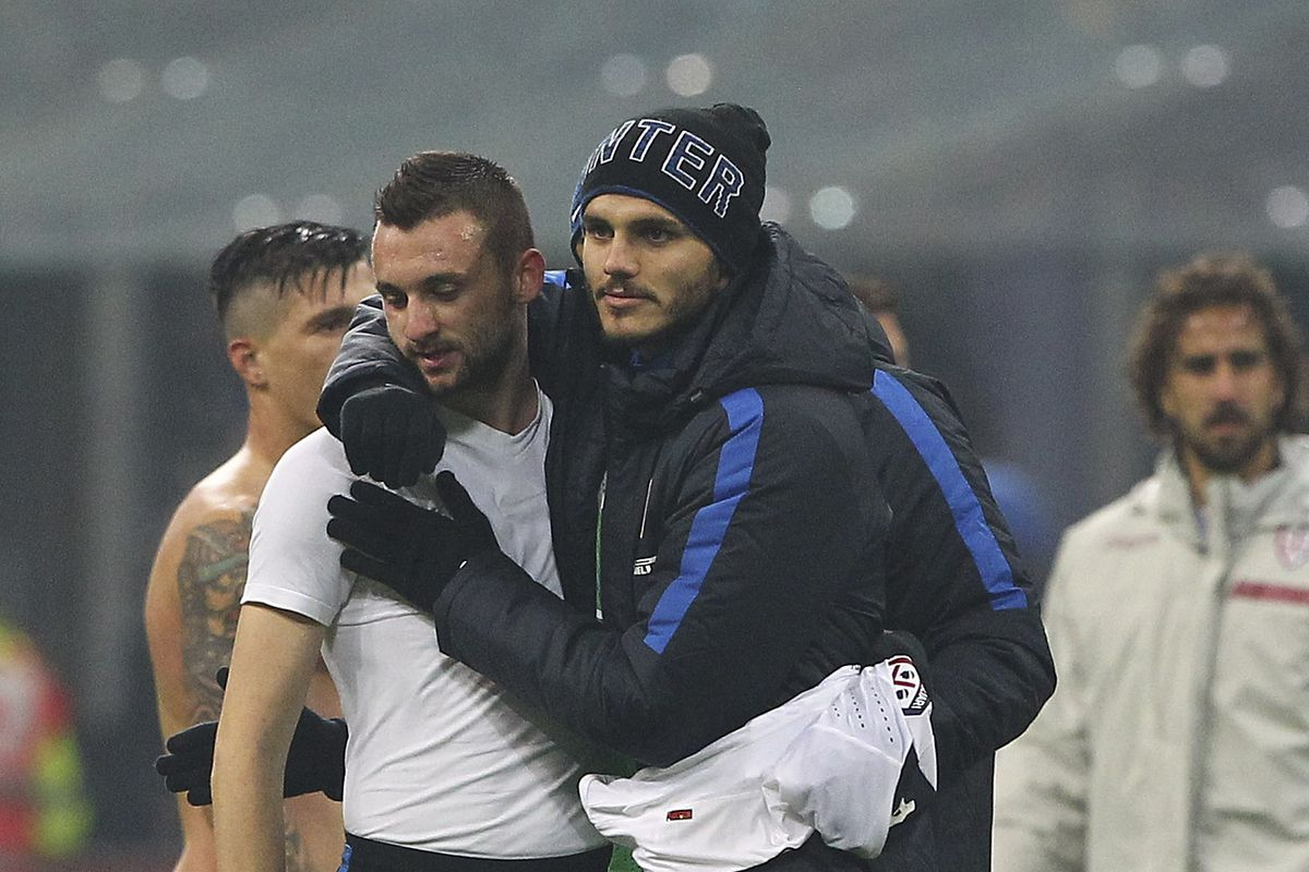 Getty does not have a lot of good pictures of Icardi and Brozovic