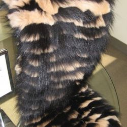 Burberry cable knit fox and rabbit scarf, $1,595