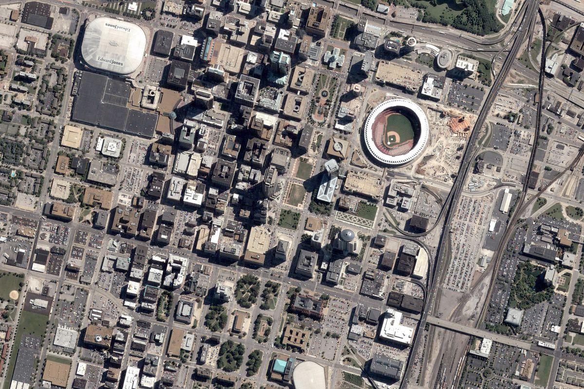 Satellite Image of St. Louis, Missouri
