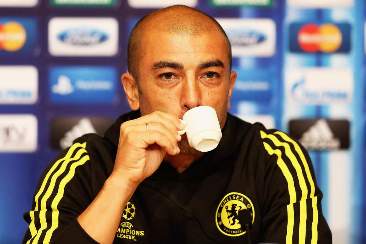 MONACO - AUGUST 30:  Roberto Di Matteo, manager of Chelsea during a press conference at the Grimaldi Forum on August 30, 2012 in Monaco, Monaco.  (Photo by Matthew Lewis/Getty Images)