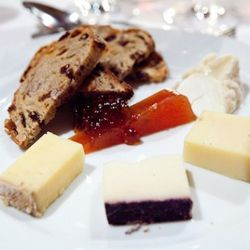 Cheese course, naturally, that was paired with two different wines