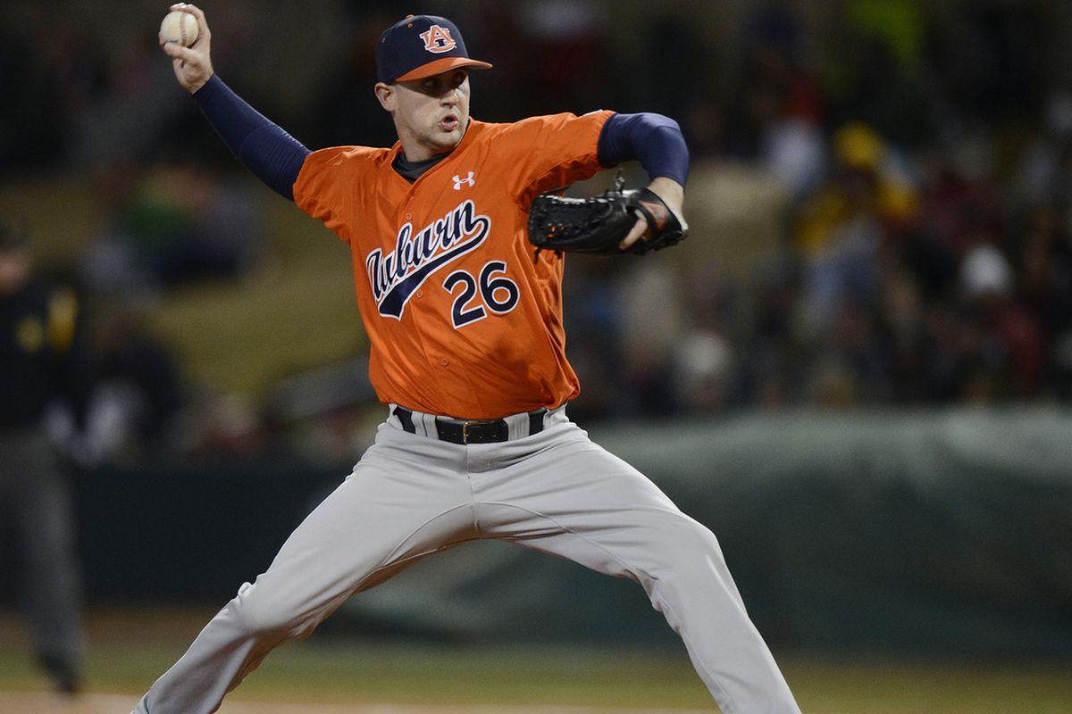 Senior right-hander Dillon Ortman will get the opening day start for Auburn.