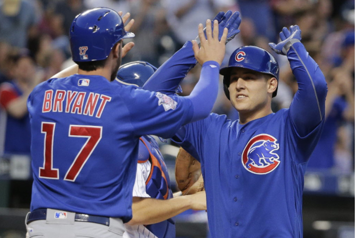 dbe116df2c8914 Anthony Rizzo (right) and Kris Bryant are on the short list of midseason  candidates for National League MVP.