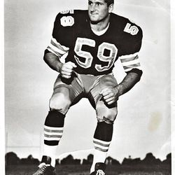 Fred Whittingham, father of U. head coach Kyle Whittingham, was on the roster for the New Orleans Saints in 1967-68.