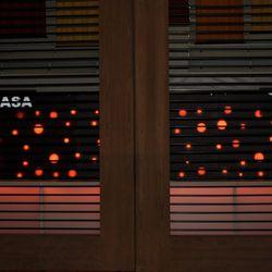At the entrance to BarMasa, new signs.