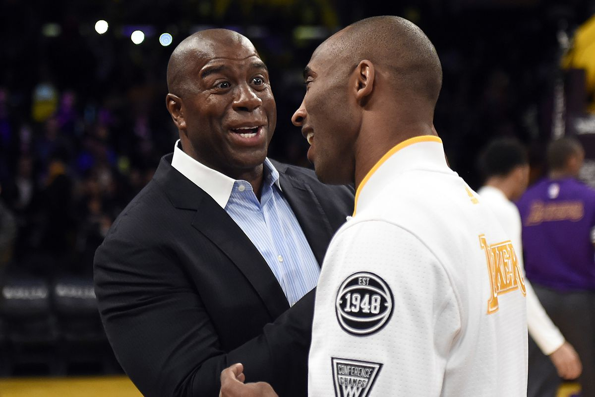 Magic Johnson is saying the Lakers will keep their first round