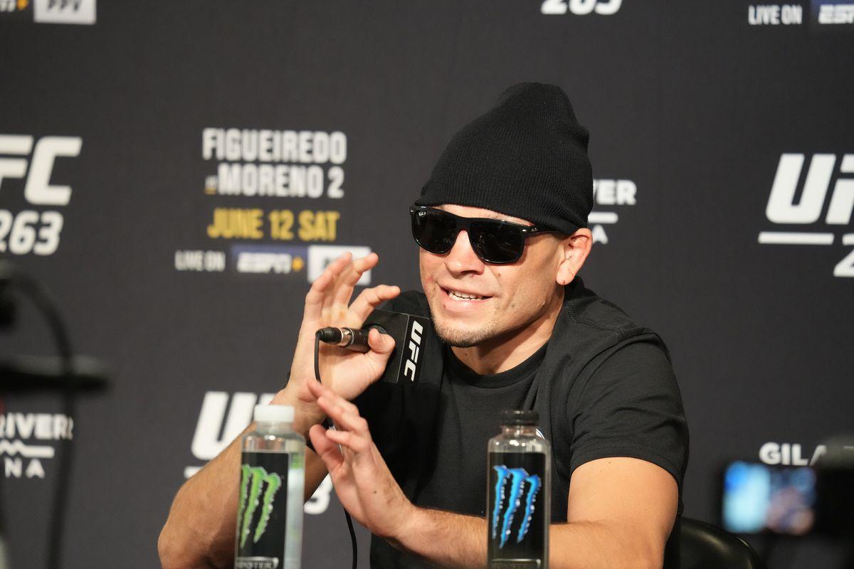 Nate Diaz at the UFC 263 post-fight presser.