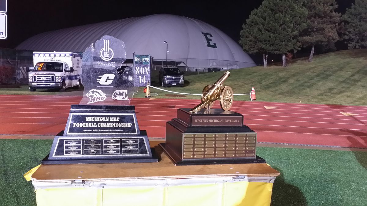 Michigan MAC and Victory Cannon Trophies