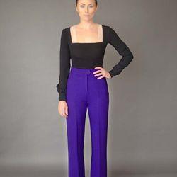 Jacquelyn blouse, $525; Bianca pant, $575