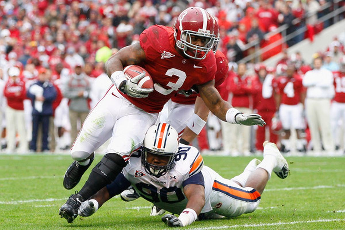 It's Trent Richardson's time to shine in the Alabama offense. (Photo by Kevin C. Cox/Getty Images)