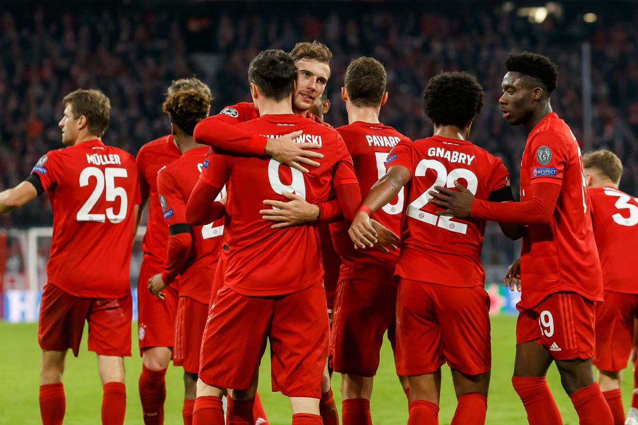 Match awards from Bayern?s laid-back 2-0 win against Olympiacos in the Champions League