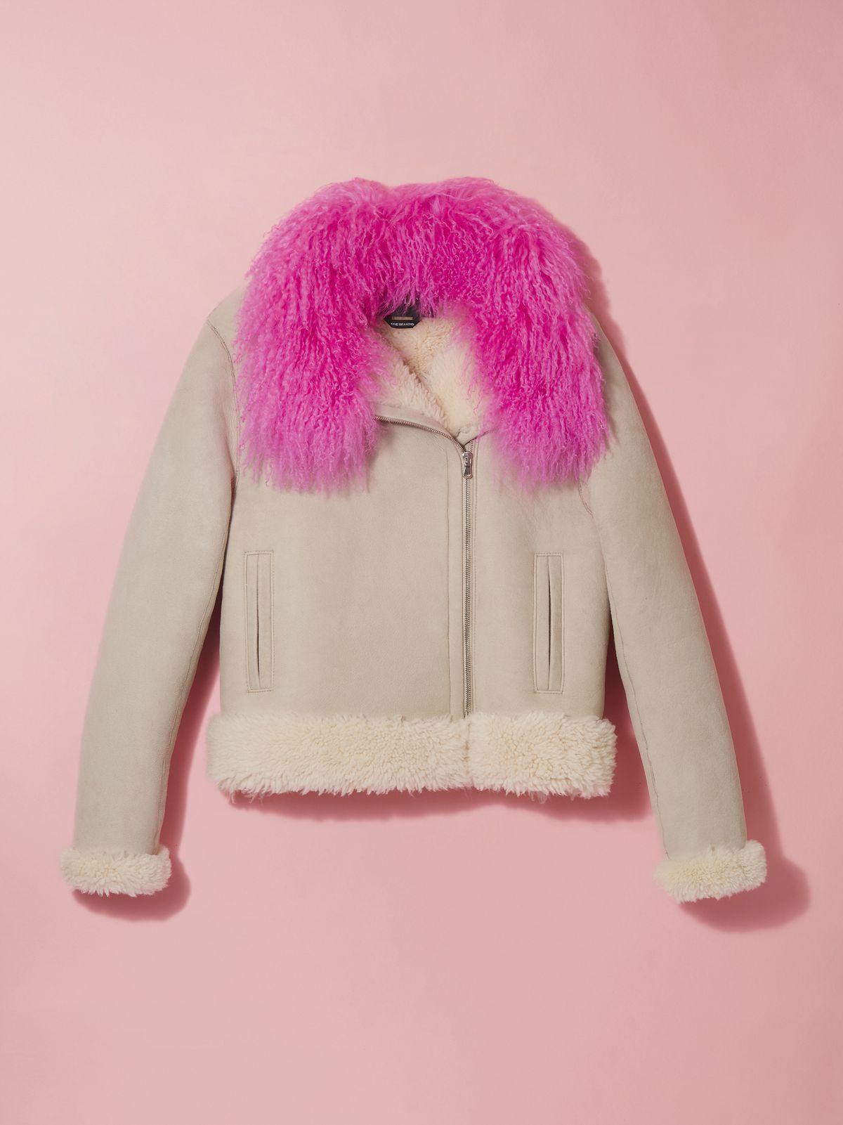 Bebe Rexha x Gilt Shearling Jacket, $4,800