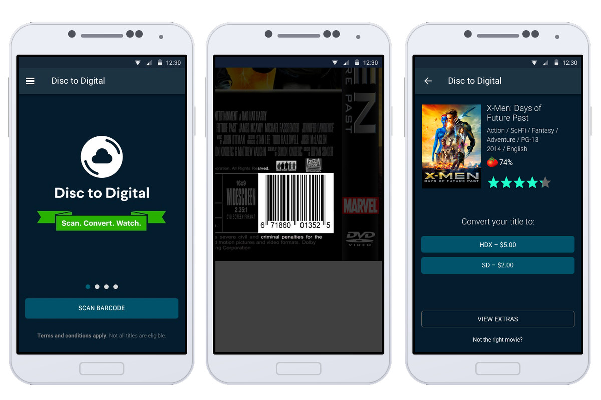 Vudu can turn your old DVDs into HD digital copies, and all