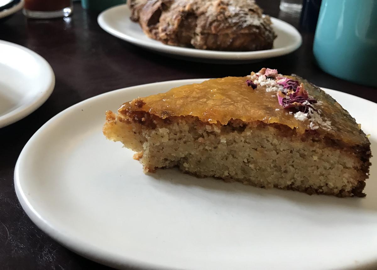 Almond apricot cake at Studio