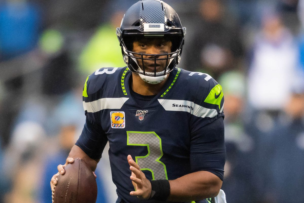 Seattle Seahawks quarterback Russell Wilson during the second half at CenturyLink Field.