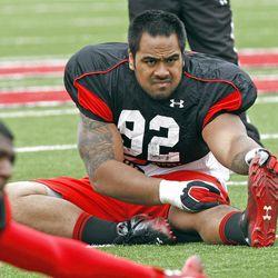 Utah defensive lineman Star Lotulelei during practice, Thursday, April 5, 2012, in Salt Lake City, Utah.