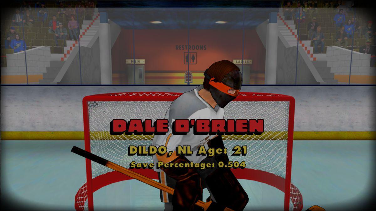 Old Time Hockey - goalie from Dildo