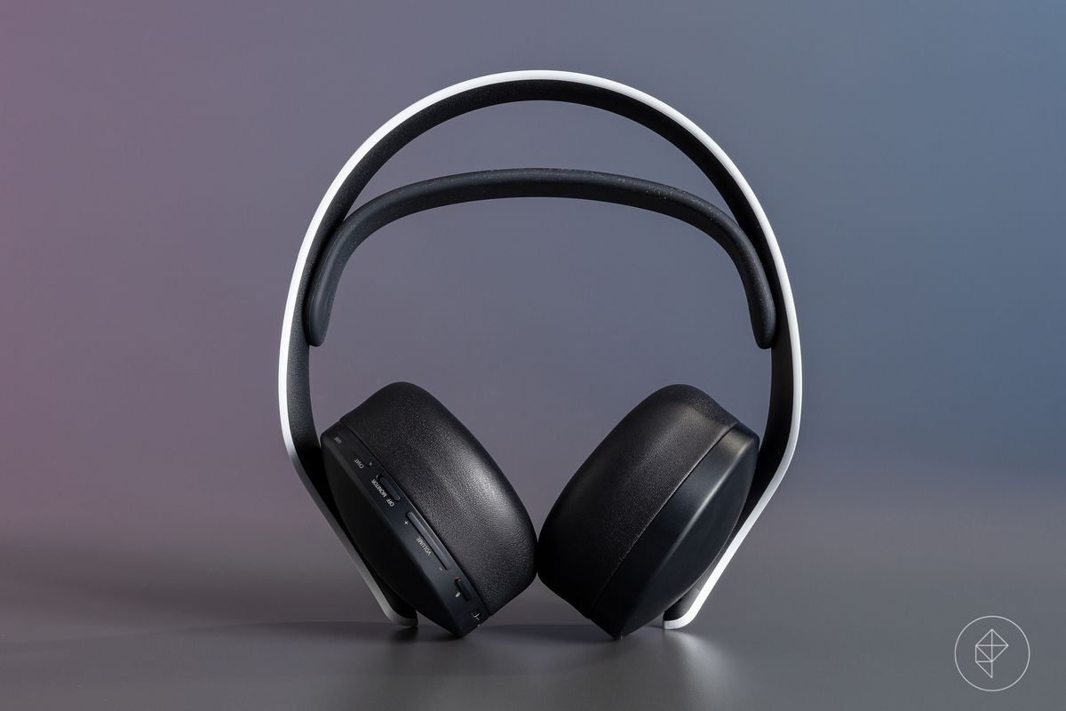 The PULSE 3D wireless headset, a peripheral for the PlayStation 5