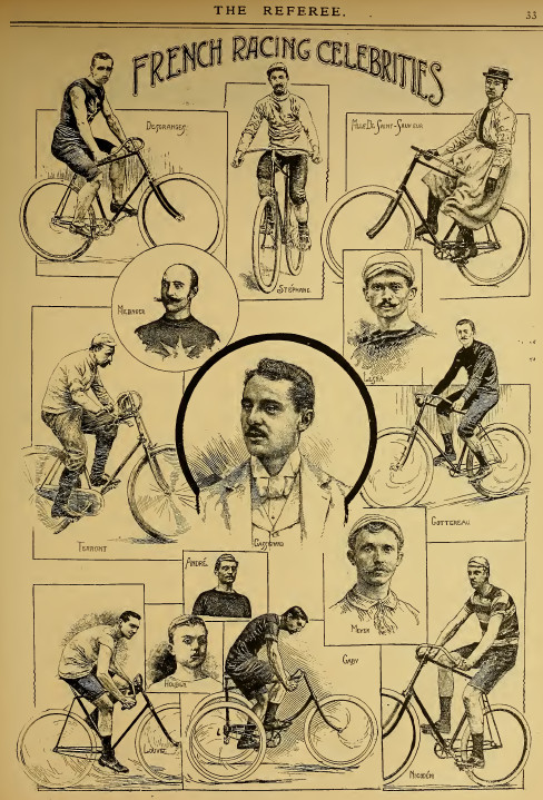 At the end of 1893 De Saint-Sauveur was depicted in the 'Referee' as one of the stars of French cycling, alongside Henri Desgrange, Auguste Stéphane, Paul Médinger, Lucien Lesna, Charles Terront, Georges Cassignard, Cotterau, André, Meyer, Louvet, Montagu
