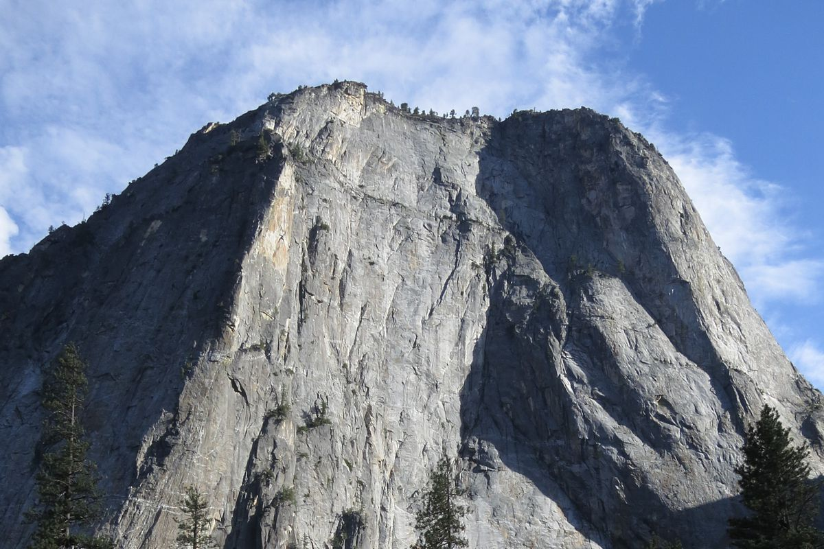 The El Capitan rock formation stands on July 21, 2014 in Yosemite National Park, California.