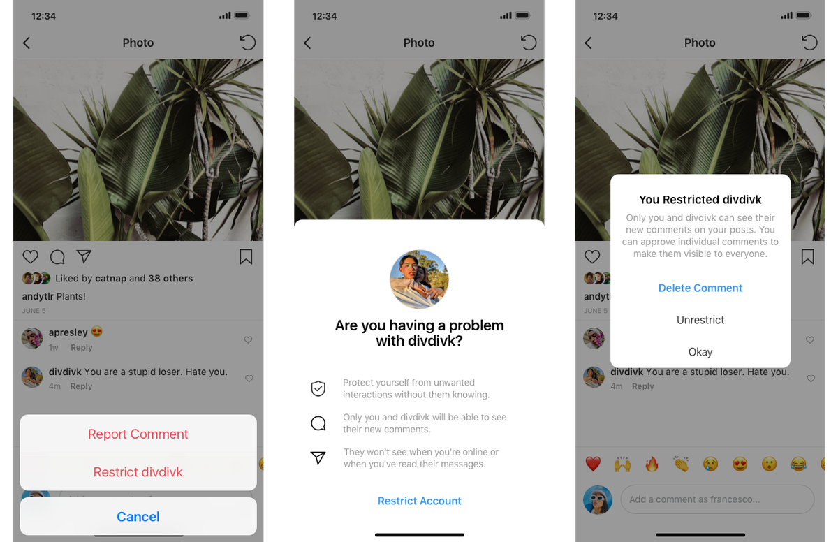 Instagram will test a feature that allows users to shadow ban their