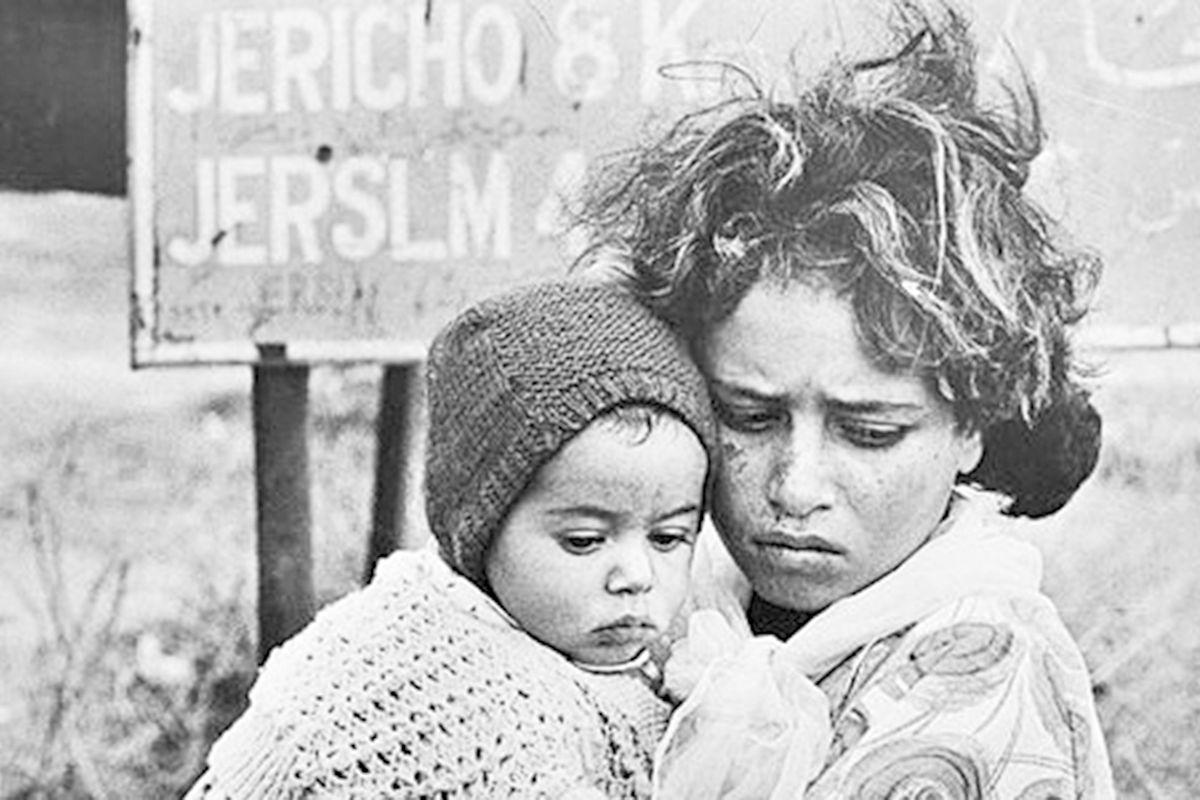 Palestinian refugees in Jordan, 1968.