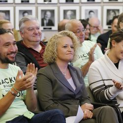 Jackie Biskupski is declared the winner in the Salt Lake City mayoral election on Tuesday, Nov. 17, 2015. The Salt Lake City Council, acting as the city's board of canvassers, certified the results at the City-County Building. Biskupski defeated Mayor Ralph Becker by 1,194 votes — 51.55 percent to 48.45 percent — with more than 38,000 votes cast.