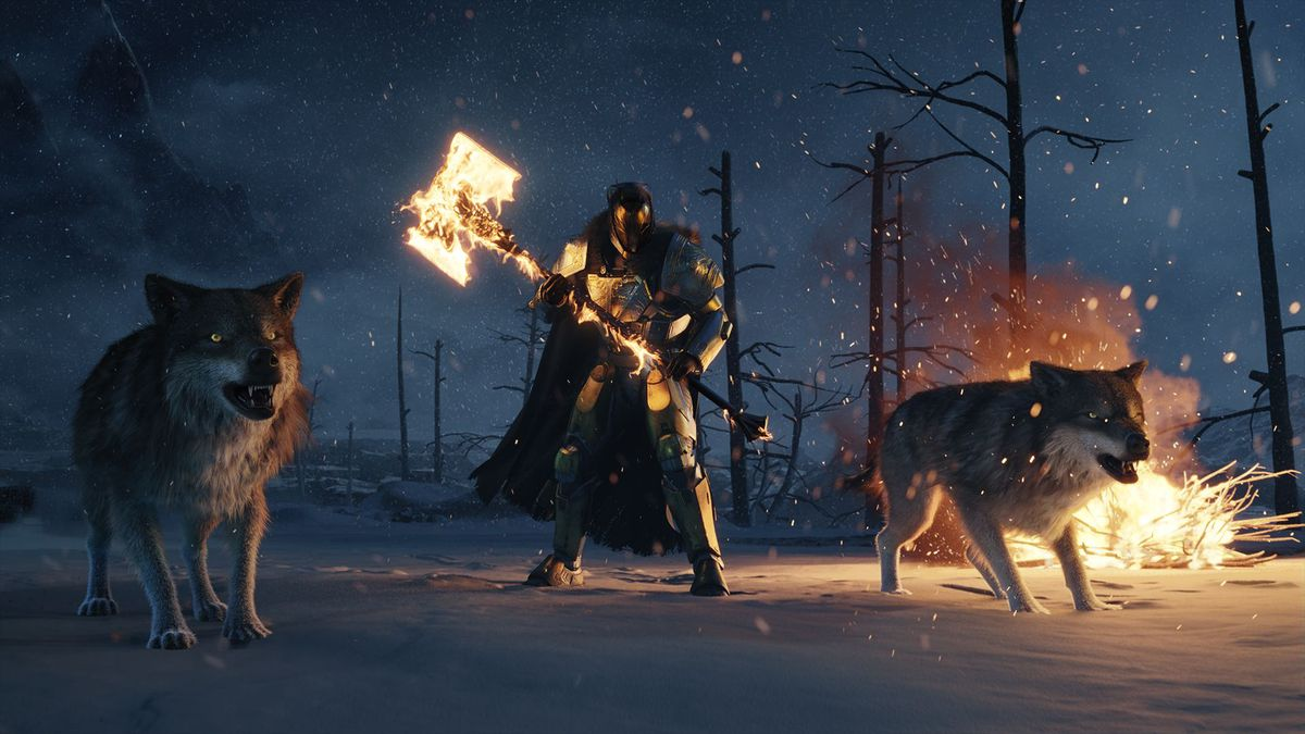 Destiny: Rise of Iron - Lord Saladin / wolves