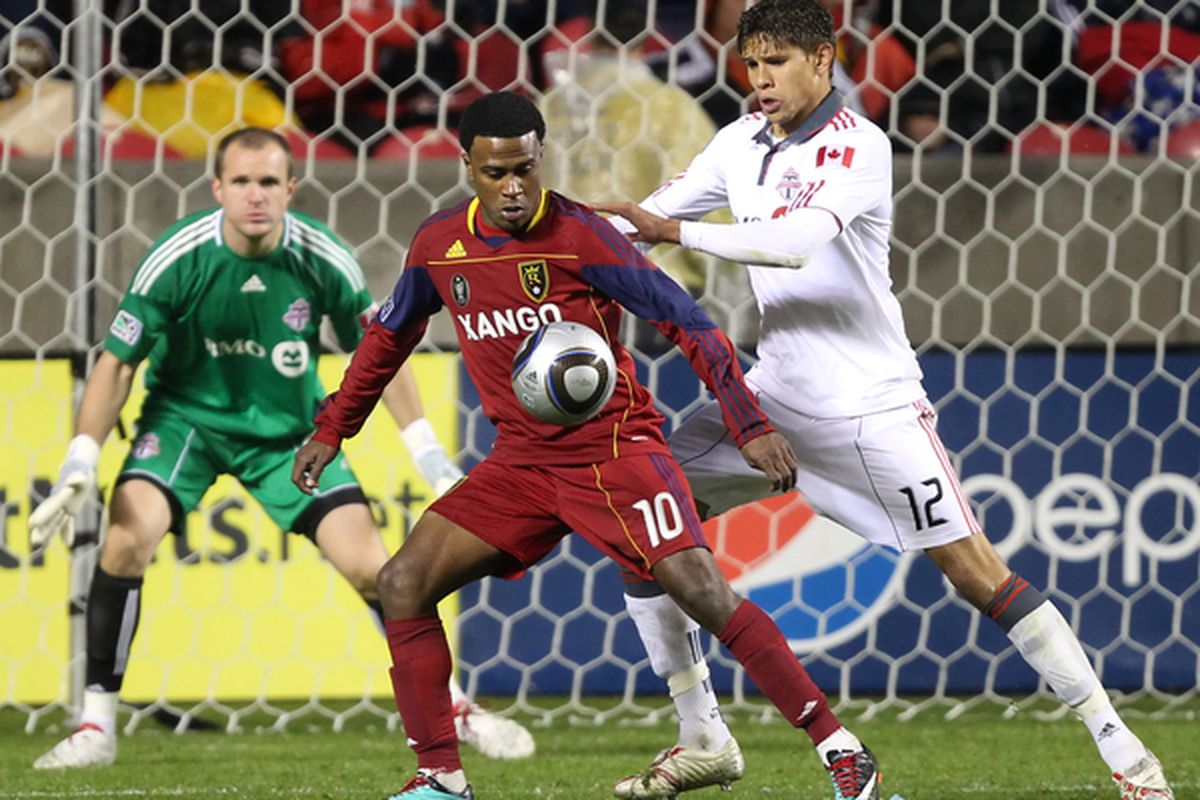 Would the new MLS roster rules keep the likes of Adrian Cann, right, out of North America? (Photo by George Frey/Getty Images)