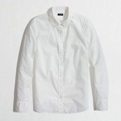 "Factory button-down shirt, now $32.50 at <a href=""http://factory.jcrew.com/womens-clothing/shirts_tops/washed_shirts/PRDOVR~42202/42202.jsp?srcCode=FAAFFI00001&siteId=J84DHJLQkR4-csTOO3ZJHU9zHUQf29cV6w"">J Crew</a>"