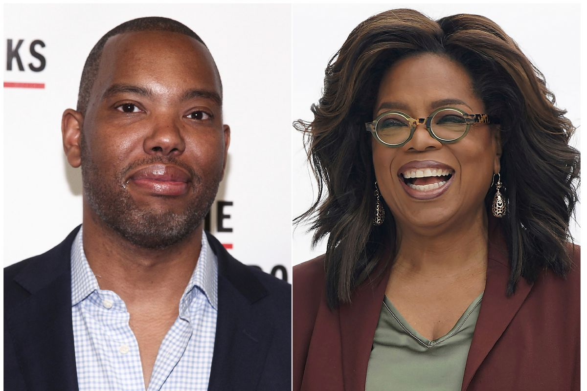 Ta-Nehisi Coates and Oprah Winfrey in a combo photo by the Associated Press.