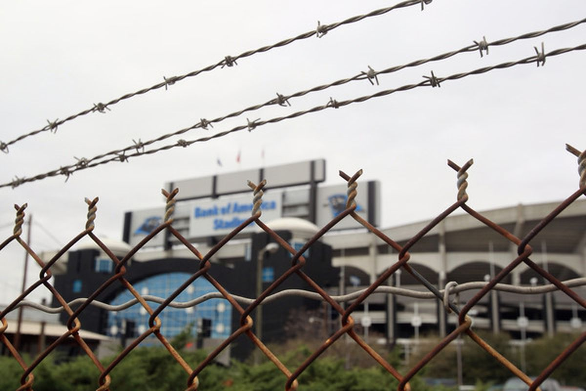 CHARLOTTE, NC - MARCH 04:  A general view of the Carolina Panthers Bank of America Stadium as the NFL lockout looms on March 4, 2011 in Charlotte, North Carolina.  (Photo by Streeter Lecka/Getty Images)
