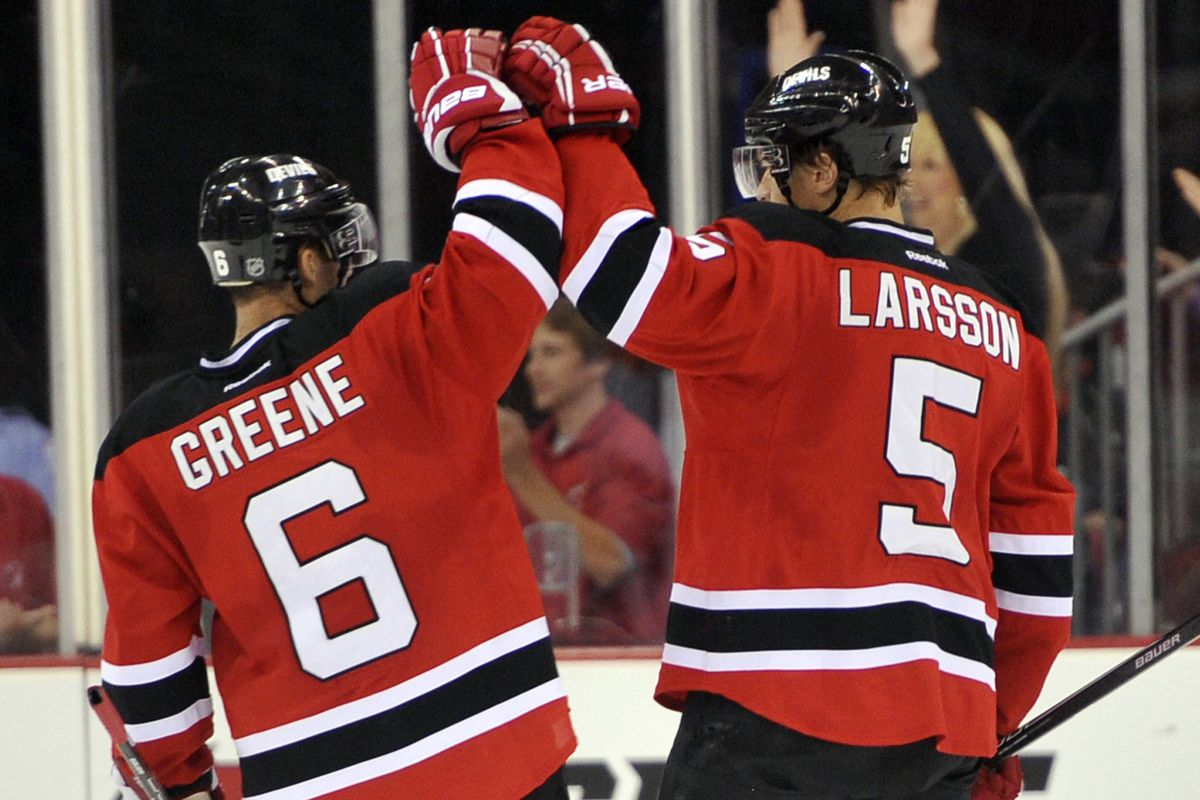 Will Larsson or another young defenseman be able to step up alongside Andy Greene this season?