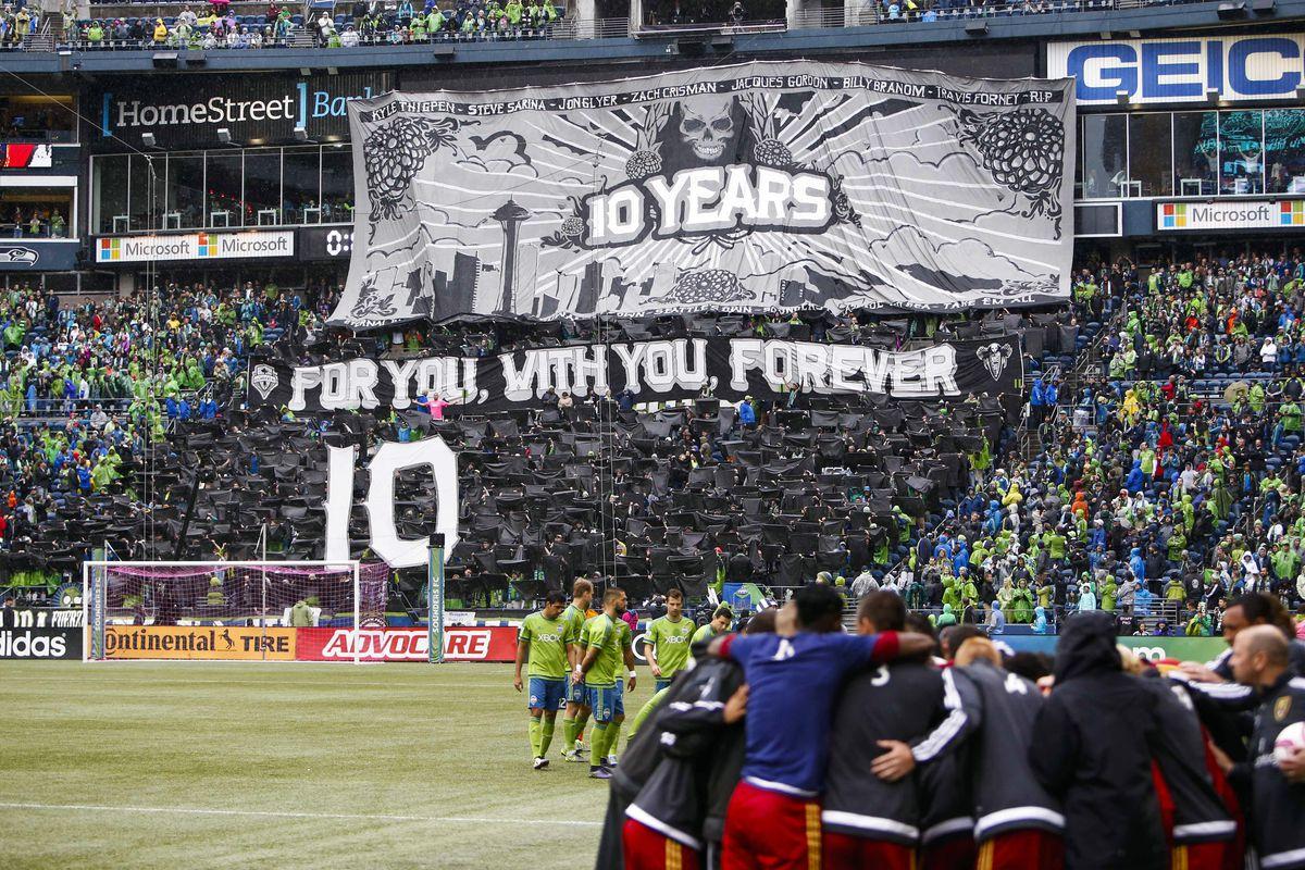 No corporate brand or team money was used in the making of this tifo.