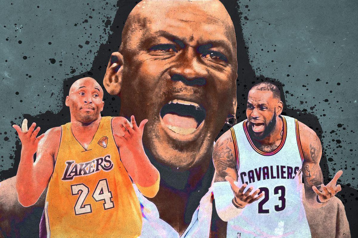 Kobe Bryant, Michael Jordan, and LeBron James