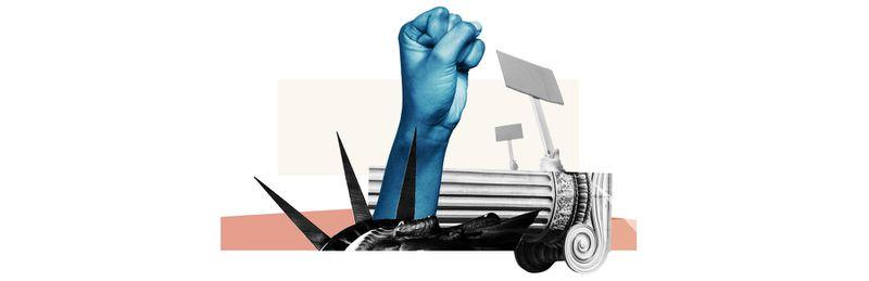 An illustration of a raised fist.