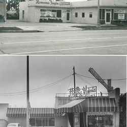 Exterior view of Beverly Boulevard before and during Phyllis Morris era. <i>[Photo courtesy Phyllis Morris]</i>