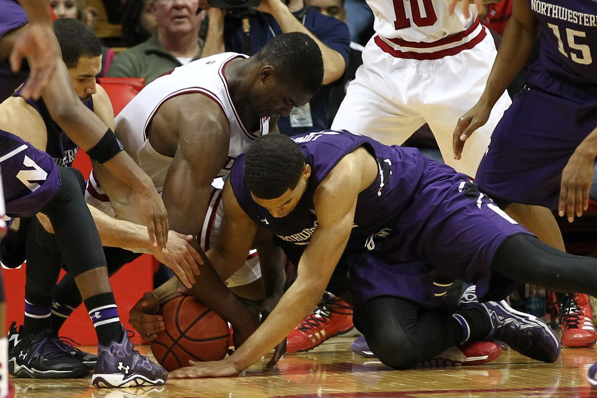 Northwestern beats Indiana to the floor and secures an extra possession in a win at Assembly Hall