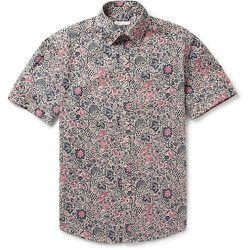 """<strong>Michael Bastian</strong> Floral Print Short Sleeve Shirt in Beige, <a href=""""http://www.barneys.com/on/demandware.store/Sites-BNY-Site/default/Product-Show?pid=503250146&q=michael%20bastian&index=24"""">$350</a> at Barneys"""