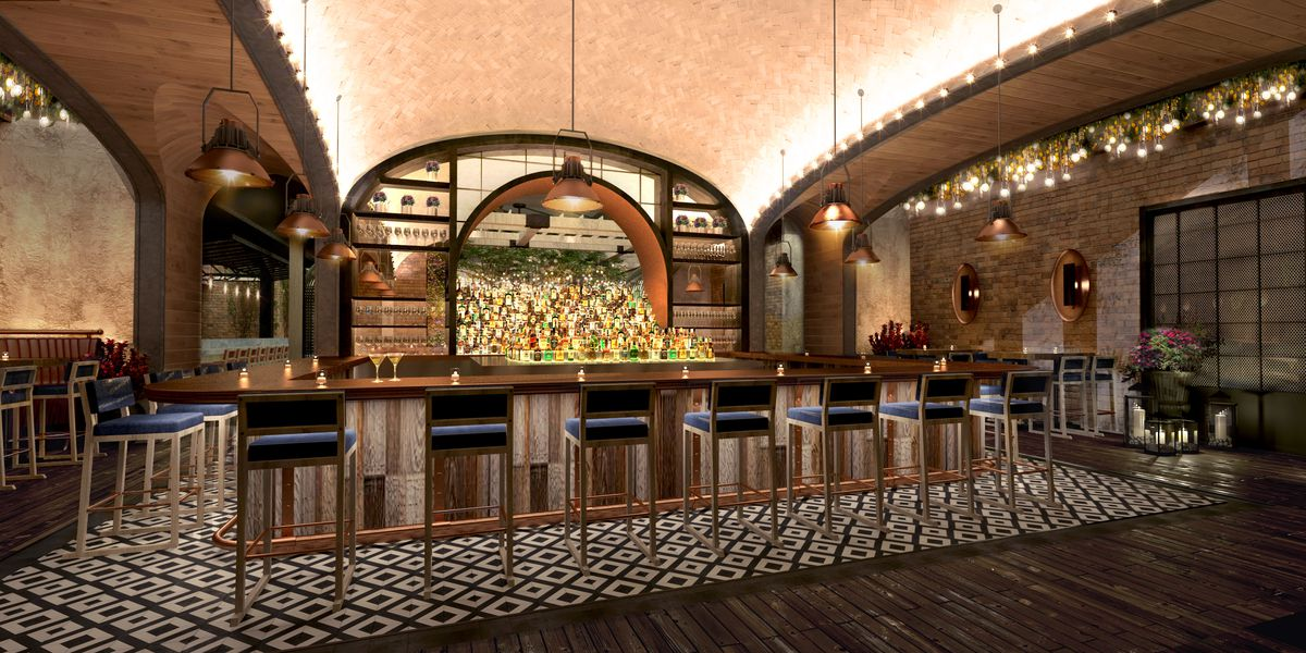 A rendering of the bar at Catch
