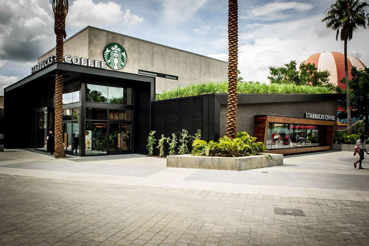 Starbucks Opens Disney World Location With Moss Art And