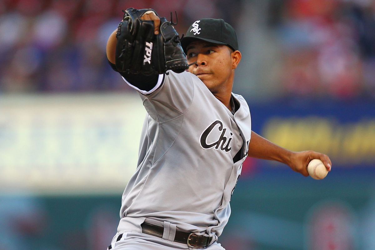 Jose Quintana is now 2-1 with a nifty 1.98 ERA.  Philip Humber better start pitching well or he may find himself in the bullpen. (Photo by Dilip Vishwanat/Getty Images)