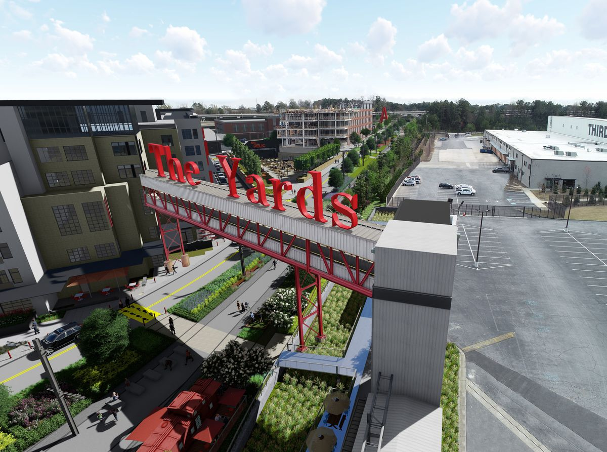 A rendering of the The yards facet at Doraville's massive mixed-use Assembly.