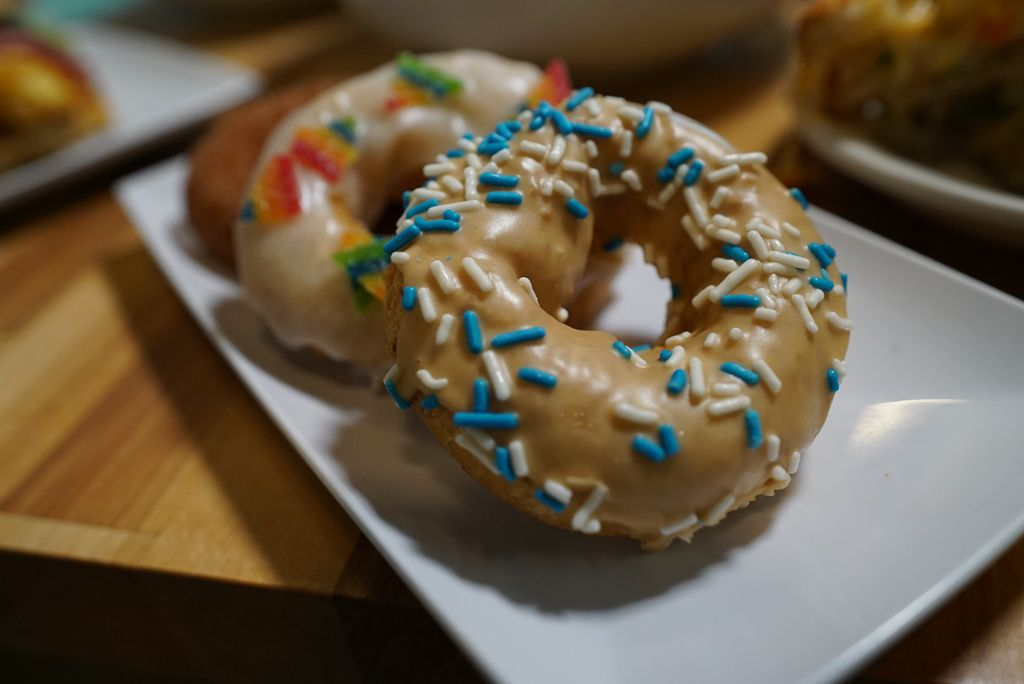 Doughnuts made at Smack Dab restaurant in Rogers Park.