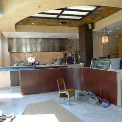 The 500-square-foot bakery is located at the front of the restaurant.