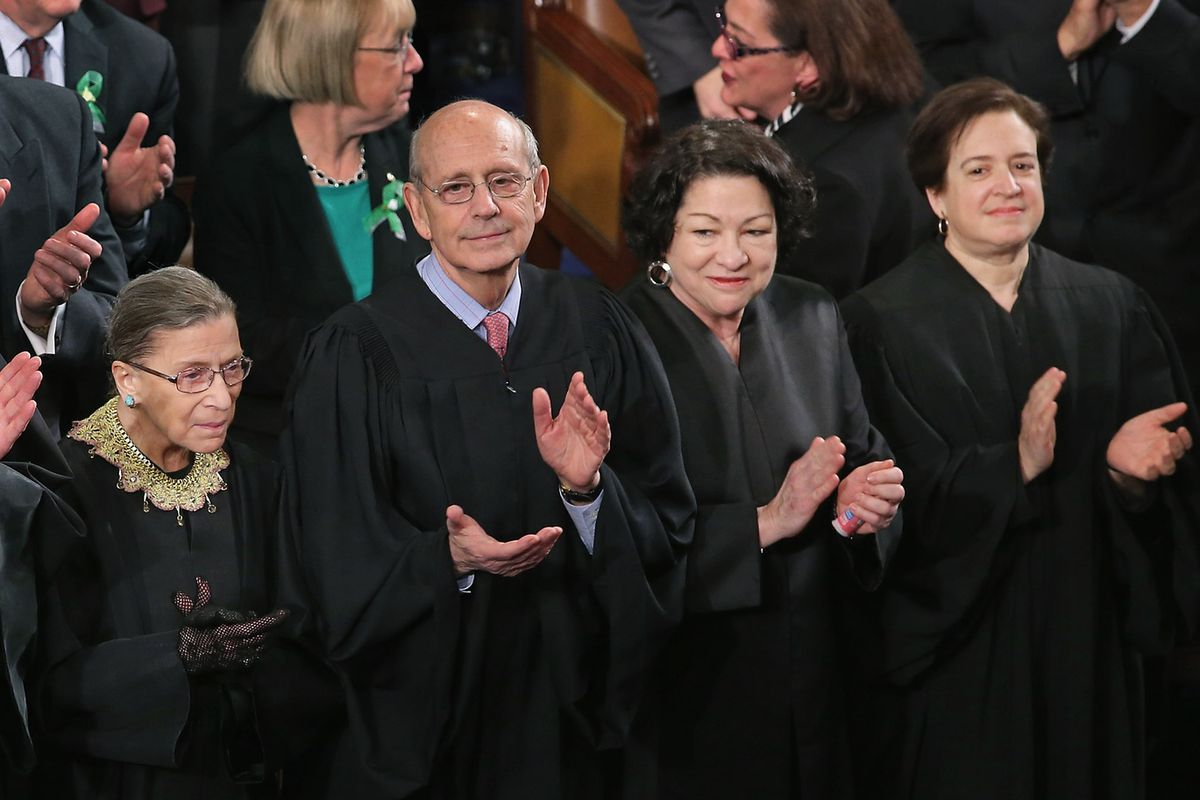 The four liberal Supreme Court Justices.