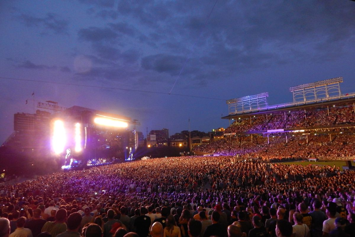 Pearl Jam at Wrigley Field in 2013