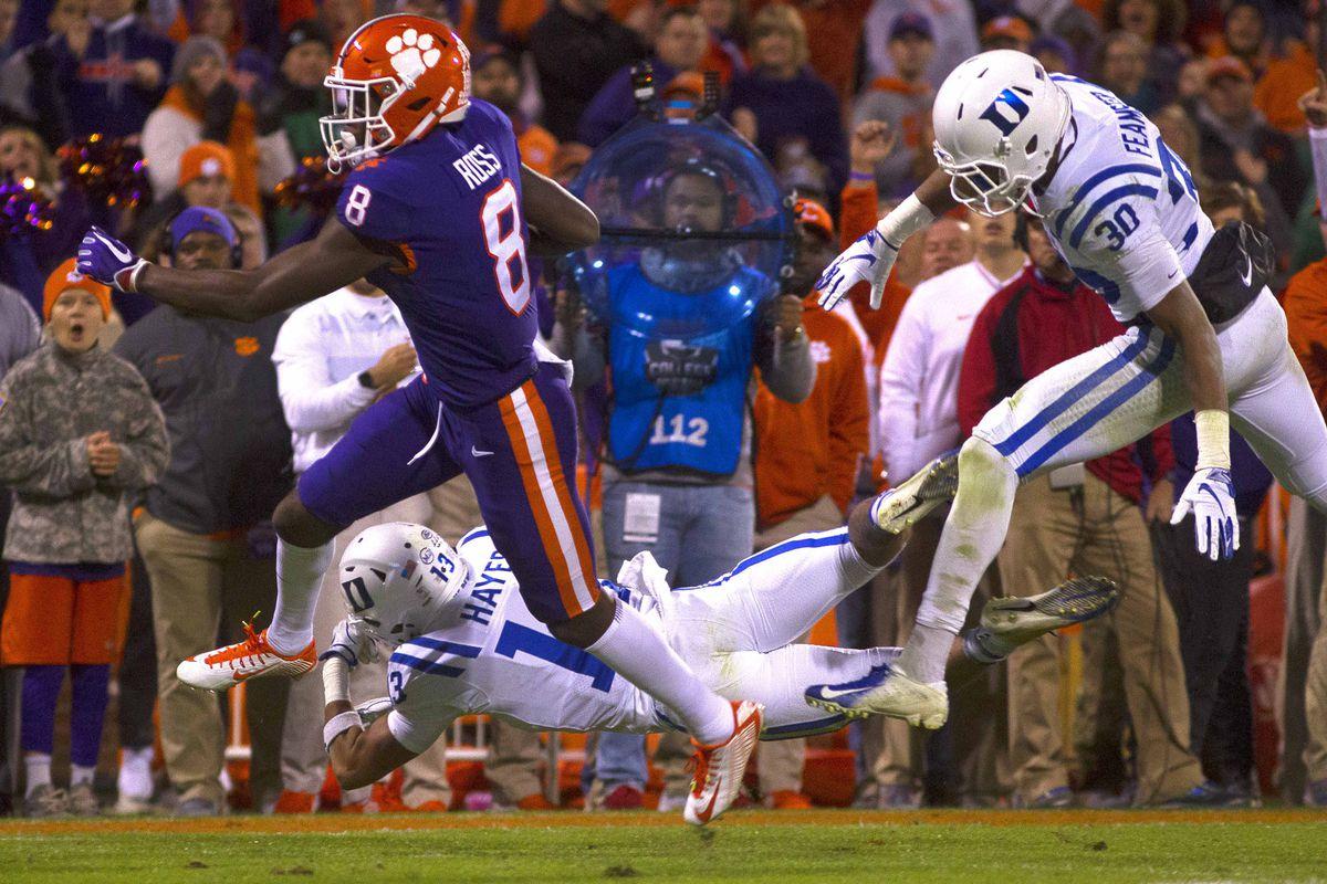 NCAA Football: Duke at Clemson
